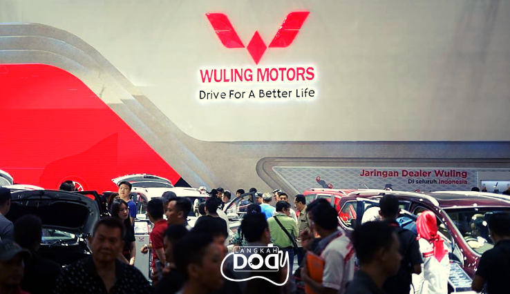 Situasi booth Wuling Motors Indonesia di Hall A no.A3 /foto: Instagram @WulingMotorsID